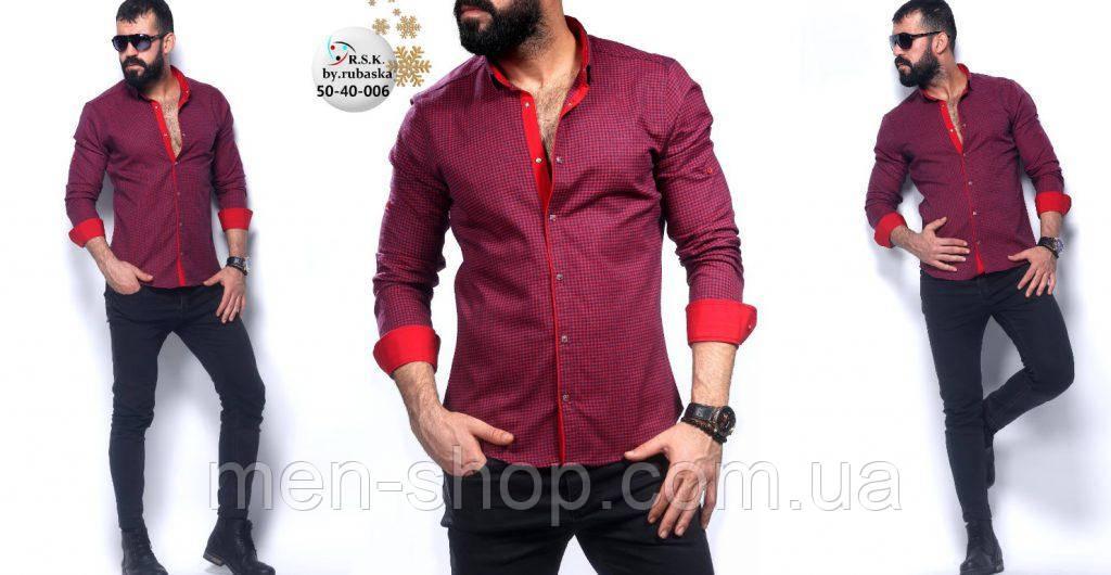 3a0af61c34b Утеплённая яркая рубашка в мелкую клетку  продажа