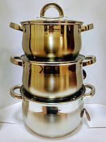 Набор посуды Vissner VS 10650 6 пр. (2,9 л. 3,9 л. 5,1 л.)