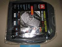 Накидка на сиденье с подогревом серая низкая 12В  DK-514GR