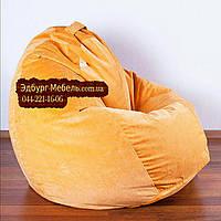 Кресло мешок груша Флок оранжевый