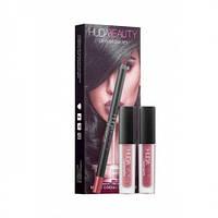 Набор Huda Beauty Lip Contour Set ( (2 помады и карандаш)