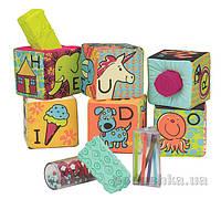 Развивающие мягкие кубики-сортеры Battat BX1477Z ABC
