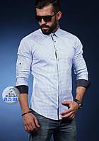 Хлопковая рубашка с мелким принтом