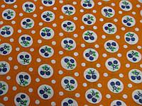 Ткань ситец оранжевый