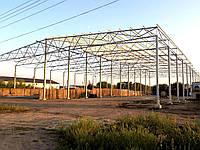 Зернохранилище 60м х 40м х 8м. Профнастил.