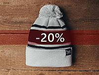Зимняя шапка Staff белая, KS0058-1