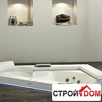 Гидромассажная ванна Jacuzzi Aura Corner 160 Base встроенная без смесителя (отделка Черный гранит)