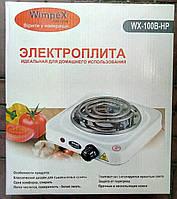 Электроплитка спиральная бытовая WIMPEX HP WX-100B, 1000W, 1 конфорка