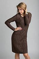 Элегантное вязаное платье на подкладке