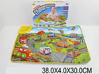 "Муз.коврик детский ""Городок"", батар., музыка, свет, в кор. 38х30х4 /36-2/"