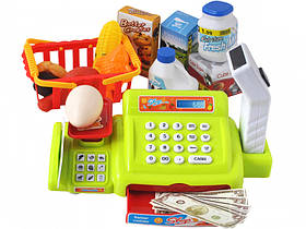 Детский кассовый аппарат  калькулятор, сканер,