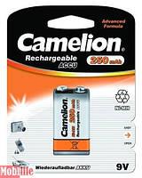 Аккумулятор Camelion 9V крона 6F22 1шт 250 mAh Ni-MH