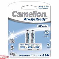 Аккумулятор Camelion AAA R03 2шт 800 mAh Ni-MH Always Ready Цена 1шт.