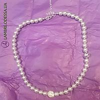 Ожерелье из серого жемчуга, 46 см