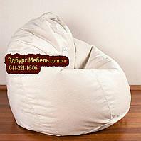Кресло мешок груша Флок белый