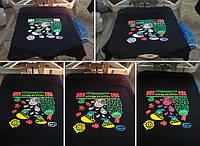 Печать на футболках шелкография