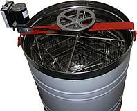 Медогонка Нержавеющая 4-х рам РКС с ременным электроприводом.