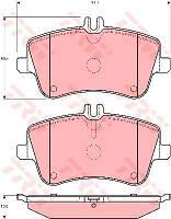 Колодка тормозная MB C-CLASS (W203) передн. (производство TRW) (арт. GDB1413), AEHZX