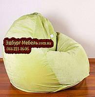 Кресло мешок груша Флок салатовый