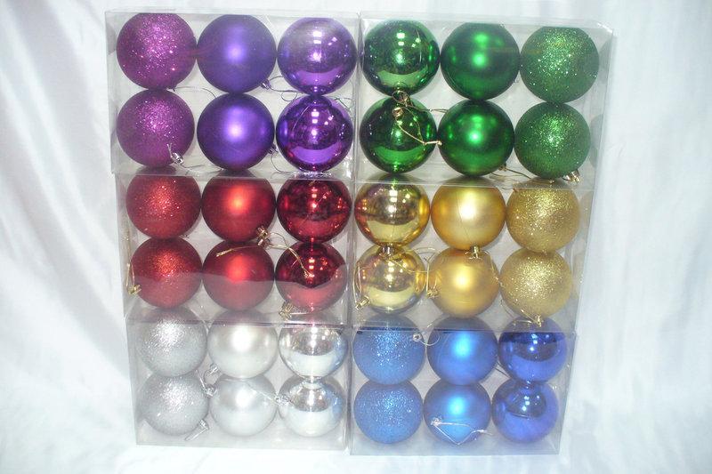 Елочные шары 6 штук в упаковке диаметром 8 см