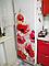 """Вінілова наклейка на холодильник """"Червоні маки"""", фото 3"""