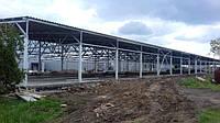 Производственно-складское помещение. Производственные и складские навесы. Профнастил.
