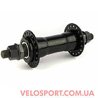 Велосипедная втулка KT-122 F, сталь, гайка, V-br, чёрная, 32 сп., передняя
