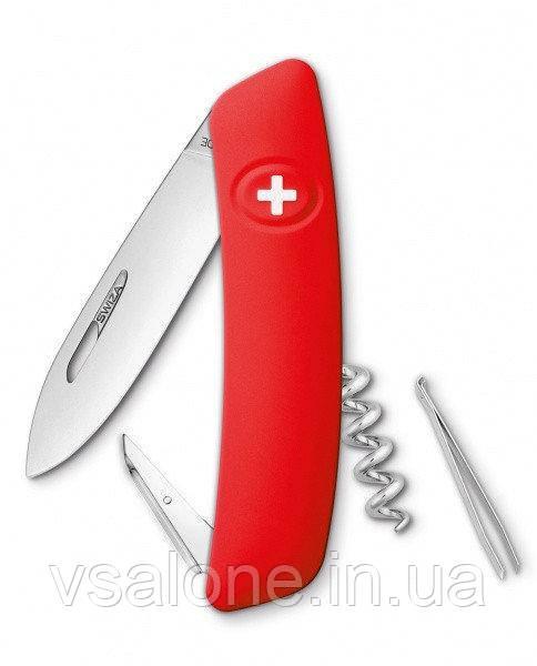 Нож многофункциональный Swiza D01 75мм 6 функций Красный