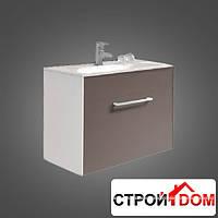 Подвесная тумба с раковиной Devit Graphics 80 0120126 коричневый, белый
