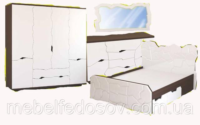 Спальня Неолит МДФ (Альфа мебель)