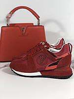 Модные женские кроссовки LOUIS VUITTON красные