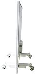 Панельний обігрівач інфрачервоний HSteel ISH 250W Premium / білий / програматор / ролики, фото 3