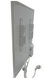 Панельний обігрівач інфрачервоний HSteel ISH 250W Premium / білий / програматор / ролики, фото 6