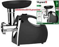 Электромясорубка  VILGRAND V206-НMG черная (2000Вт,реверс,соковыж.)