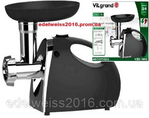 Электромясорубка  VILGRAND V206-НMG черная (2000Вт,реверс,соковыж.) - Edelweiss в Харькове