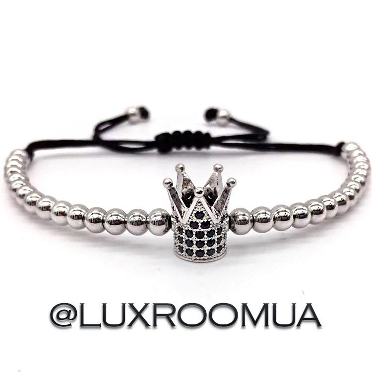 Браслет макраме Silver Crown