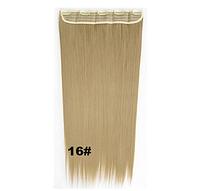 Модная накладная прядь из искусственных волос, длинные прямые волосы, цвет №16 - пепельный