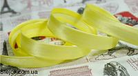 Косая бейка  желтая ,  1,5см,  100м