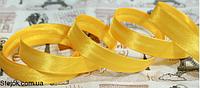 Косая бейка  темно-желтая ,  1,5см,  100м