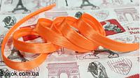 Косая бейка  оранжевая ,  1,5см,  100м