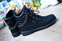 """Ботиночки """"Deeo"""" Черные, зимние."""