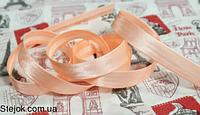 Косая бейка  персиковая ,  1,5см,  100м