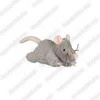 Мышь плюшевая 15см на задних лапках Трикси 45788