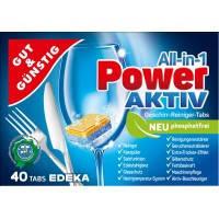Таблетки для посудомоечных машин G&G POWER-AKTIVE 40 таблеток, Германия