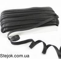 Резинка для бретель 1 см (боб 45 м)-чрная