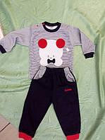 """Трикотажный домашний костюм для мальчика Ladora """"Миша""""  до 1 года"""