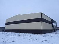 Склад профнастил 30м х 24м х 6м. Производство и монтаж складов, ангаров.