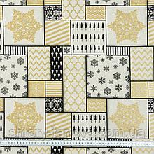 Новогодняя ткань для скатертей, декоративных подушек, рукоделия пэчворка Ткани для штор на отрез