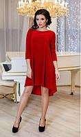 Велюровое красное платье СОЛНЫШКО Lenida 42-50 размеры