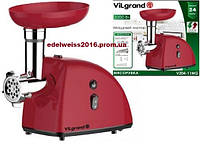 Электромясорубка  VILGRAND V204-11MG (2000Вт,реверс,соковыж.)